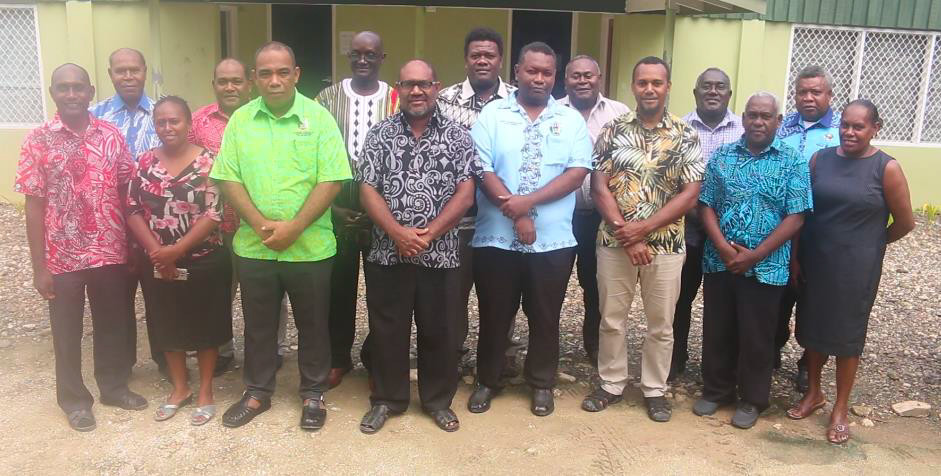 Members of the PGSP Joint Oversight Committee and the support secretariat in Auki June 2019.