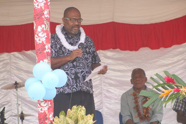 PS for MPGIS Mr. Stanley D Pirione delivering his speech during opening of Chichinge Rural Health Centre