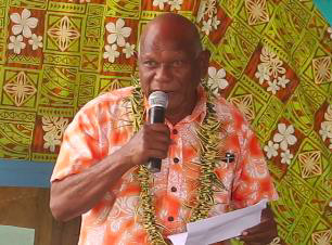 Acting Premier for Guadalcanal Province Mr. Peter Aoraonisaka delivering his remarks